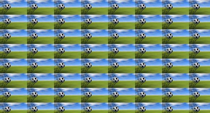 Vinylová Tapeta Fotbalový míč v síti - Týmové sporty