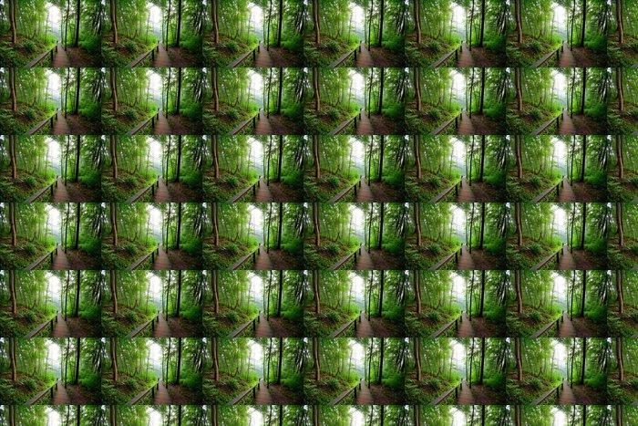 Vinylová Tapeta Staiway v lese mizí v mlze - Témata