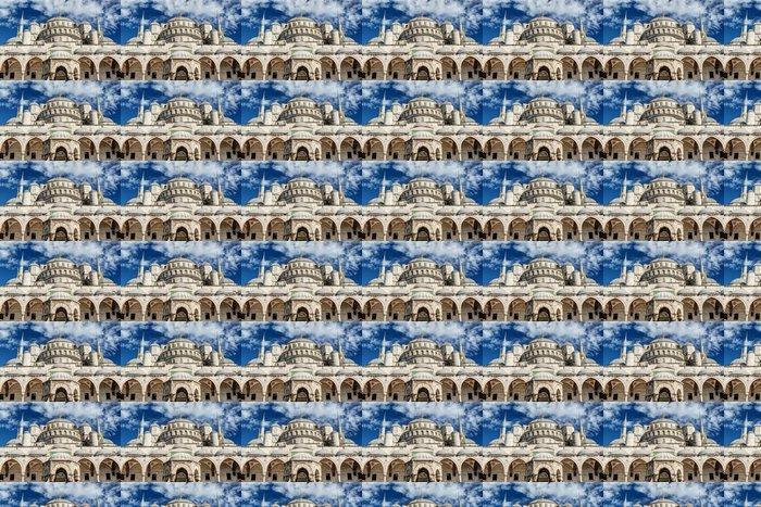Vinylová Tapeta Pohled na Modré mešity (Sultanahmet Camii) v Istanbulu v Turecku - Veřejné budovy