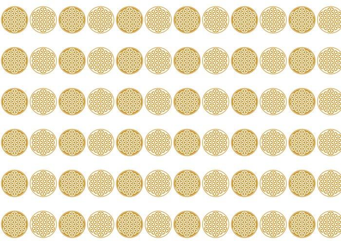 Vinylová Tapeta Květ života - Protect ikona, Posvátná geometrie - Aplikované a přírodní vědy