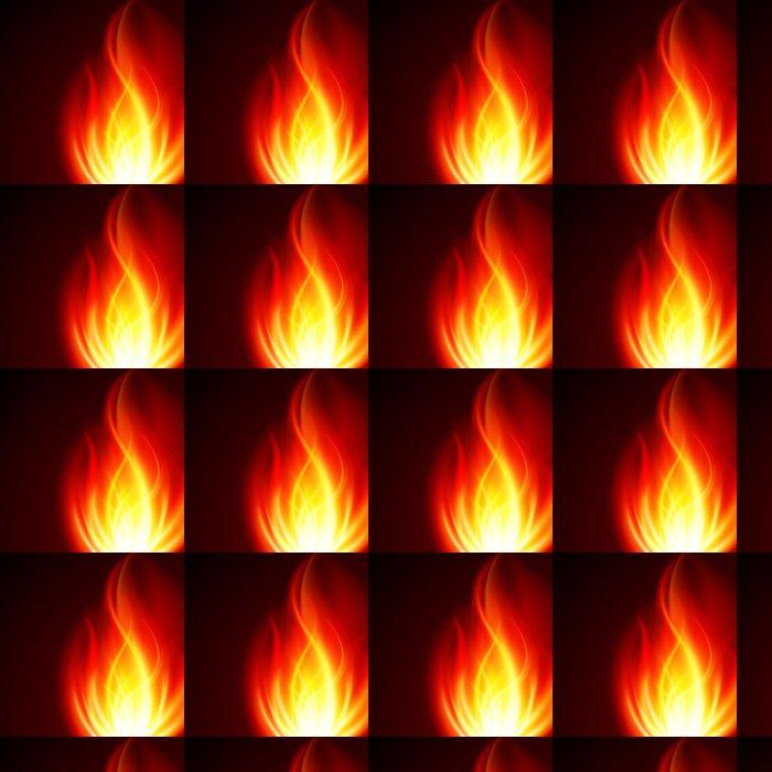 Vinylová Tapeta Hořet plamen ohně vektor pozadí - Struktury