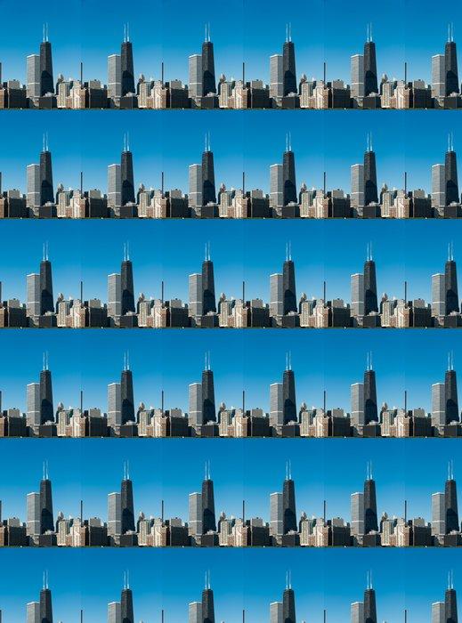 Vinylová Tapeta Hancock Building a Chicago Skyline - Město