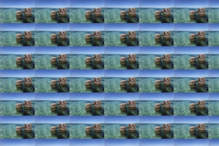 Vinylová Tapeta Pozůstatek d'un ancien ponton dans un lagon aux Caraïbes - Témata