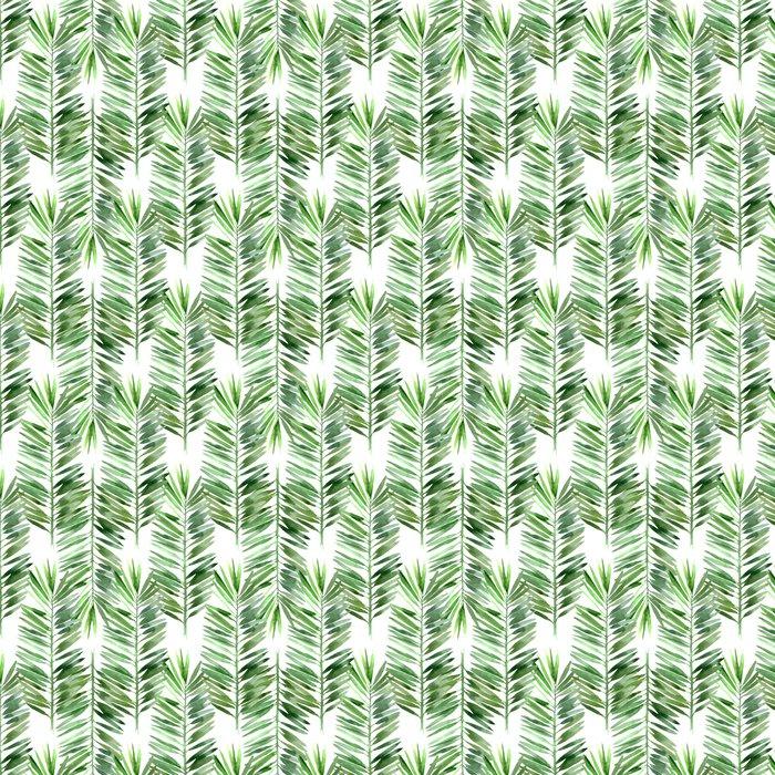 Vinylová Tapeta Akvarel palma list bezešvé - Rostliny a květiny
