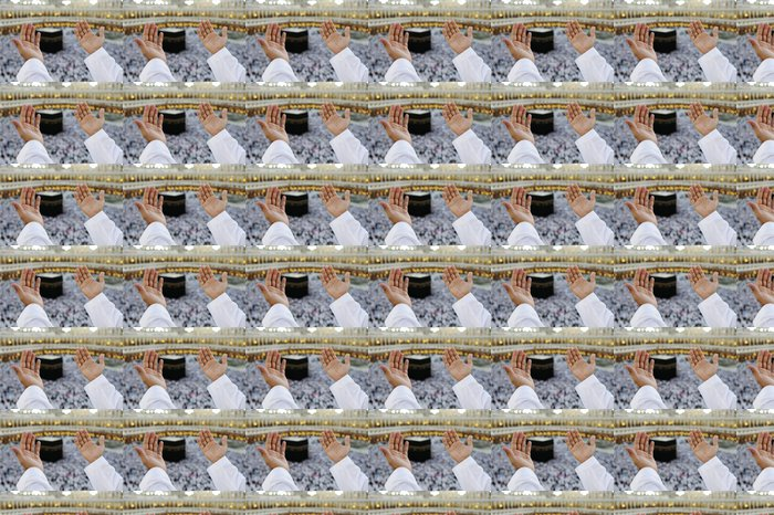Vinylová Tapeta Muslim se modlí v Mekkah s rukama nad hlavou - Náboženství