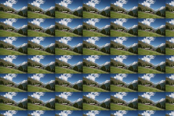 Vinylová Tapeta Zermatt domy Švýcarsko - Evropa