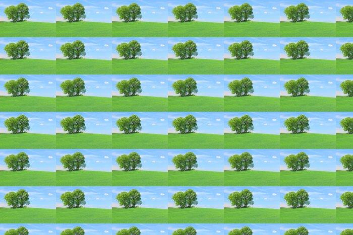 Vinylová Tapeta Pole se stromy - Zemědělství