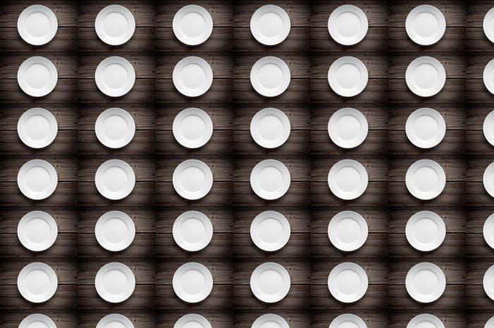 Vinylová Tapeta Prázdný bílý talíř na dřevěném stole - Situace v podnikání