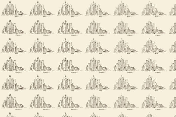 Vinylová Tapeta New York architekturu velkoměsto, ročník vyryto ilustrace - Město