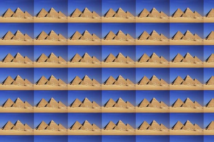 Vinylová Tapeta Pyramidy v Gíze, Káhira - Pouště