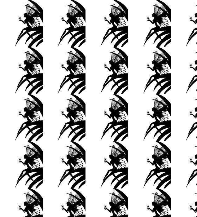 Vinylová Tapeta Silueta víla dívka drží hvězdu - Ezoterika