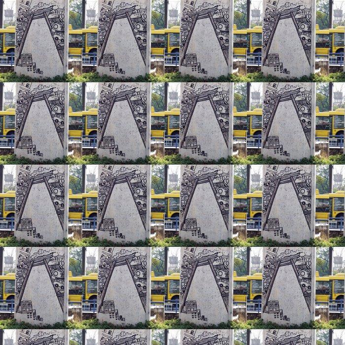 Vinylová Tapeta Graffiti na pilíři v blízkosti železniční cesty v Thajsku - Pozadí