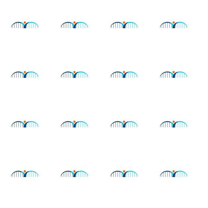 Vinylová Tapeta Most logo - Grafika