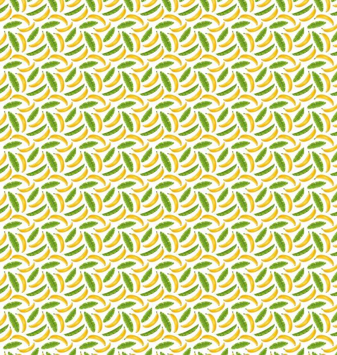papier peint motifs mod le sans couture avec des feuilles de bananier et des fruits fond de. Black Bedroom Furniture Sets. Home Design Ideas