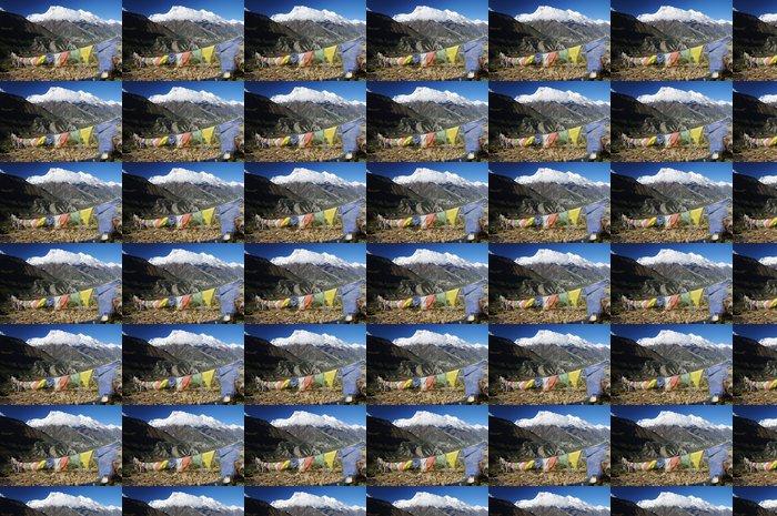 Vinylová Tapeta Annapurna špička s barevnými modlitební praporky, Nepálu - Témata