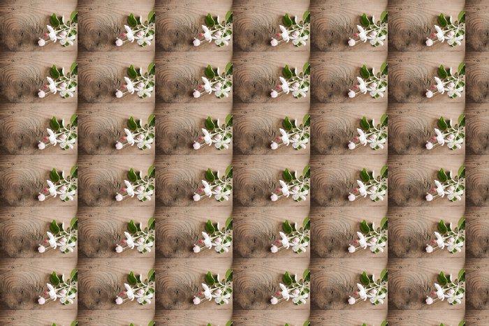 Vinylová Tapeta Jarní květiny na dřevěné pozadí - Struktury