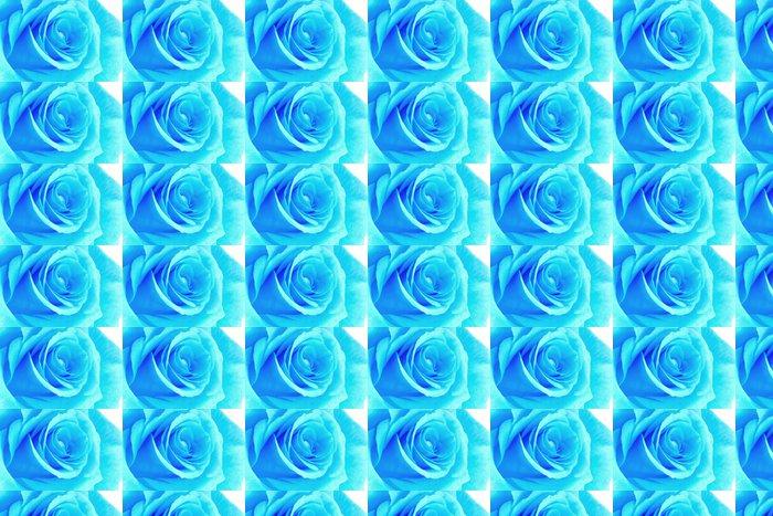 Vinylová Tapeta Blue neon rose - Květiny