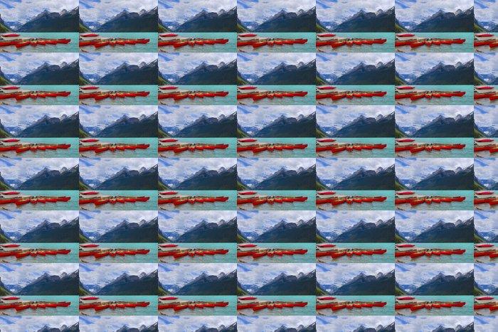 Vinylová Tapeta HDR Kánoe na jezeře Louise, Banff Kanada - Hory
