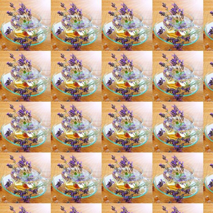 Vinylová Tapeta Zdraví z přírody-Lavendeltee - Horké nápoje
