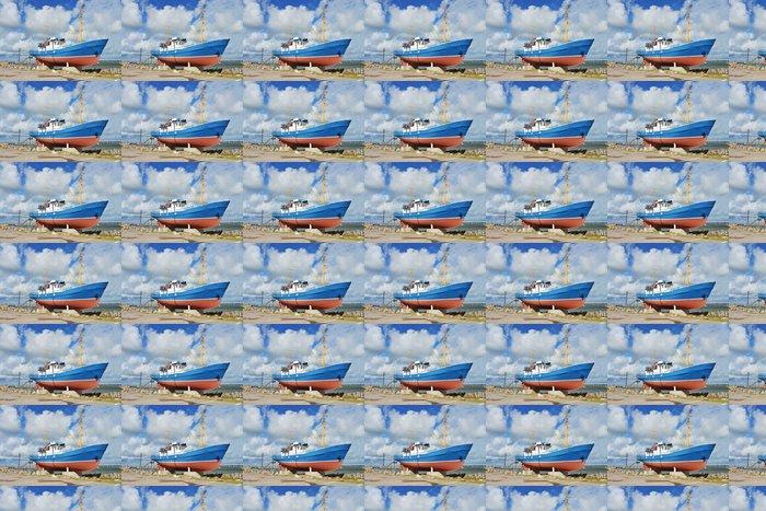 Vinyl Behang Fischerboot als Museumsstück - Europa