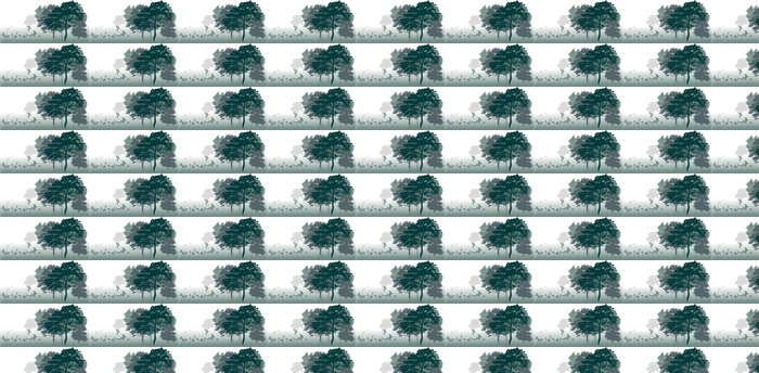 Vinylová Tapeta Motýli na poli poblíž lesní krajiny - Lesy