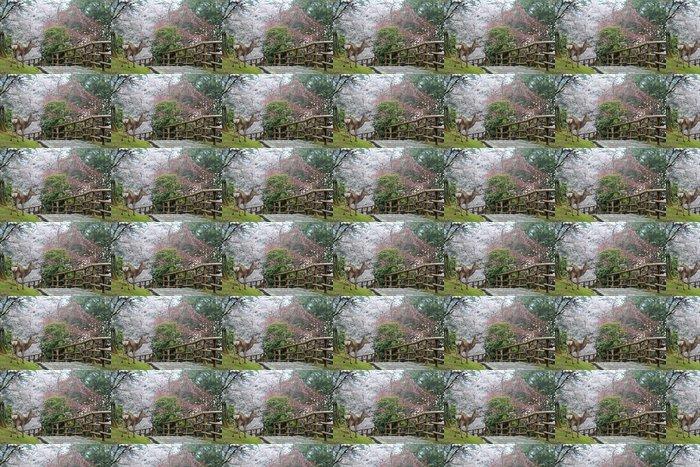 deer of nara park Vinyl Wallpaper - Seasons