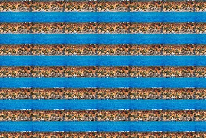 Vinylová Tapeta Ibiza Cala dHort d Hort pohled z lodi na Baleárech - Evropa