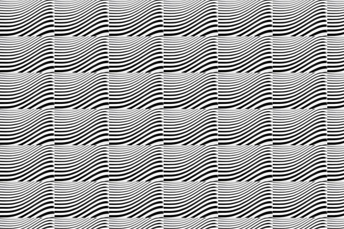 Vinylová Tapeta Černé a bílé pruhy s uměleckou efektem op - Pozadí