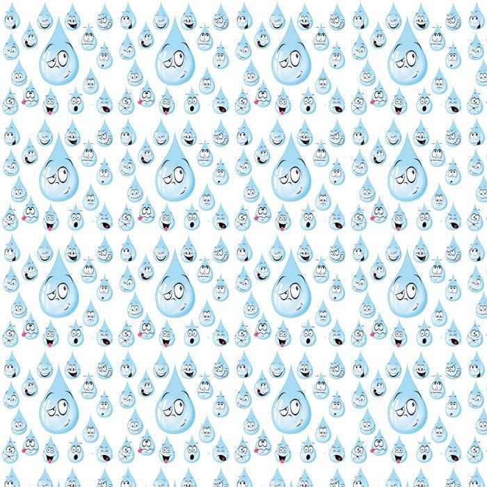 Vinylová Tapeta Kapka vody karikatura s mnoha výrazy - Štěstí