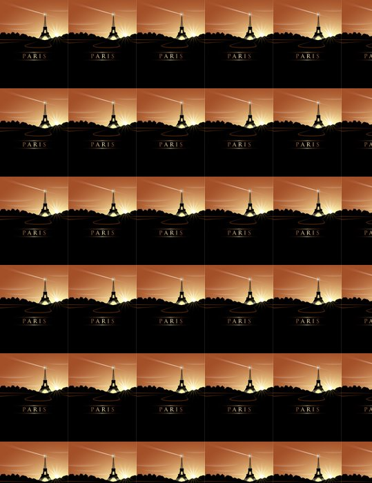 Vinylová Tapeta Eiffelova věž západ slunce - Evropská města