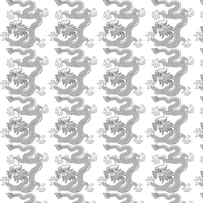 Vinylová Tapeta Čínský drak - Nálepka na stěny
