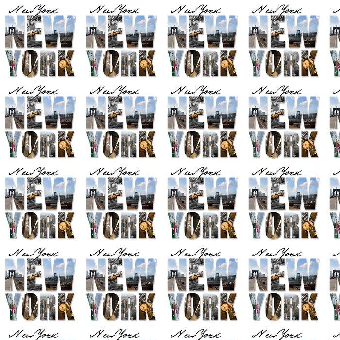 Vinylová Tapeta NYC New York City Grafické Montage - Město