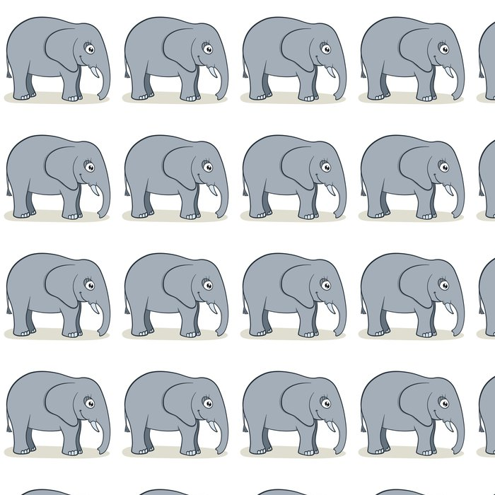 Vinylová Tapeta Karikatura slon - Savci