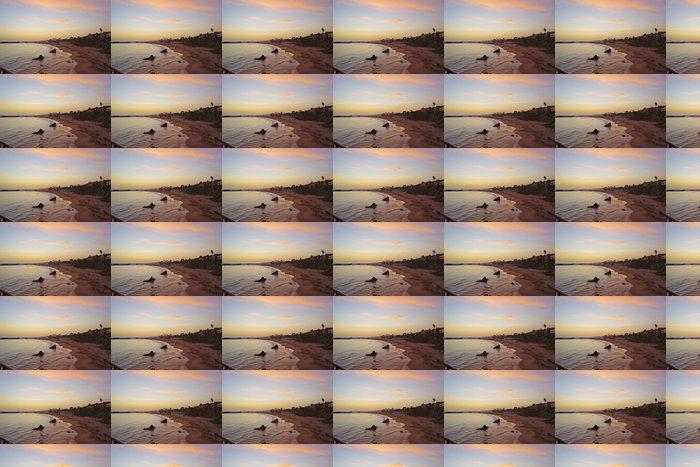 Vinylová Tapeta Golden Sunset Over Newport Beach - Voda