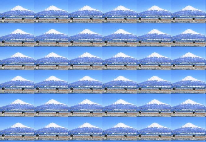 Vinylová Tapeta 富士山 と 新 幹線 - Železnice