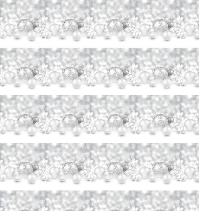 Silberne Weihnachtskugeln.Tapete Winter Hintergrund Mit Silberne Weihnachtskugeln