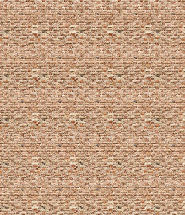 Vinylová Tapeta Pozadí vinobraní cihlové zdi -