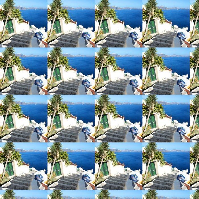 Vinylová Tapeta Santorini - Terasa - Témata