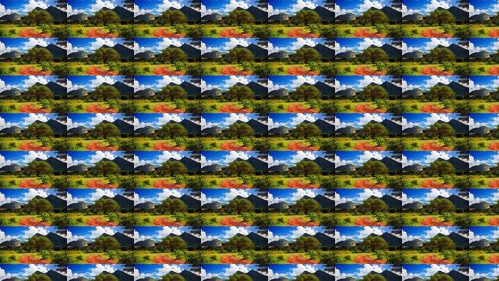 Vinylová Tapeta Červená země silnice, Bush s savany. Tsavo West, Keňa, Afrika - Témata
