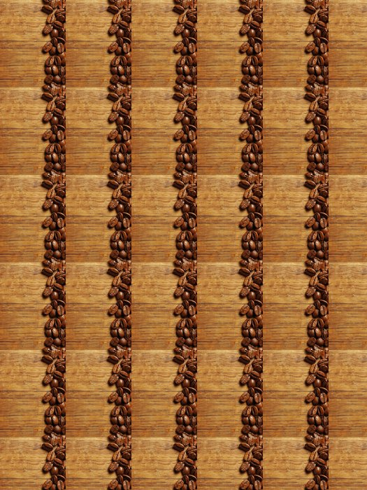 Vinylová Tapeta Kávová zrna na dřevo - Témata