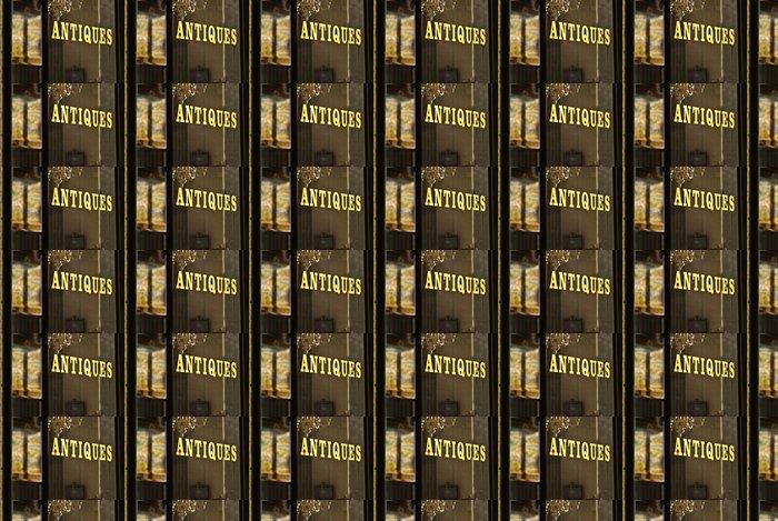 Vinylová Tapeta Obchod se starožitnostmi okno znamení wilth zlatým písmem - Prodej