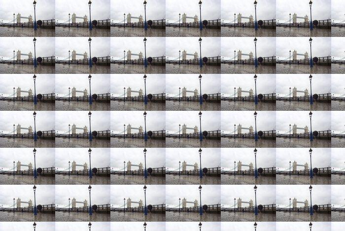 Vinylová Tapeta Panoramatický snímek z mostu Tower Bridge, Londýn, Velká Británie - Památky