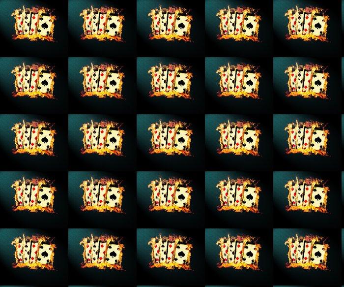 Vinylová Tapeta 4 Burning Aces -