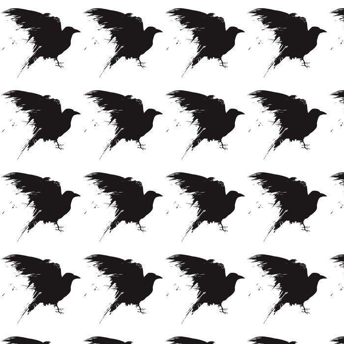 Vinylová Tapeta Vector raven nebo vrána ve stylu grunge - Nálepka na stěny