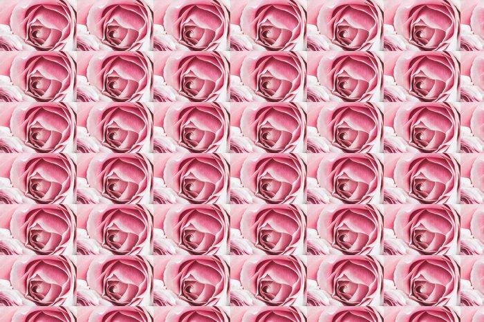 Vinylová Tapeta Růžová růže květ s malou hloubkou ostrosti a zaměřit se na střed květu růže - Květiny