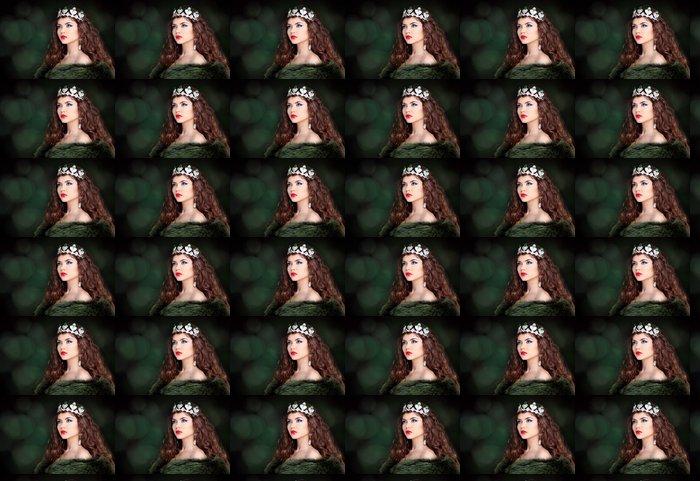 Vinylová Tapeta Krásná žena luxusní portrét s dlouhými vlasy v kožichu. Jewe - Životní styl, péče o tělo a krása