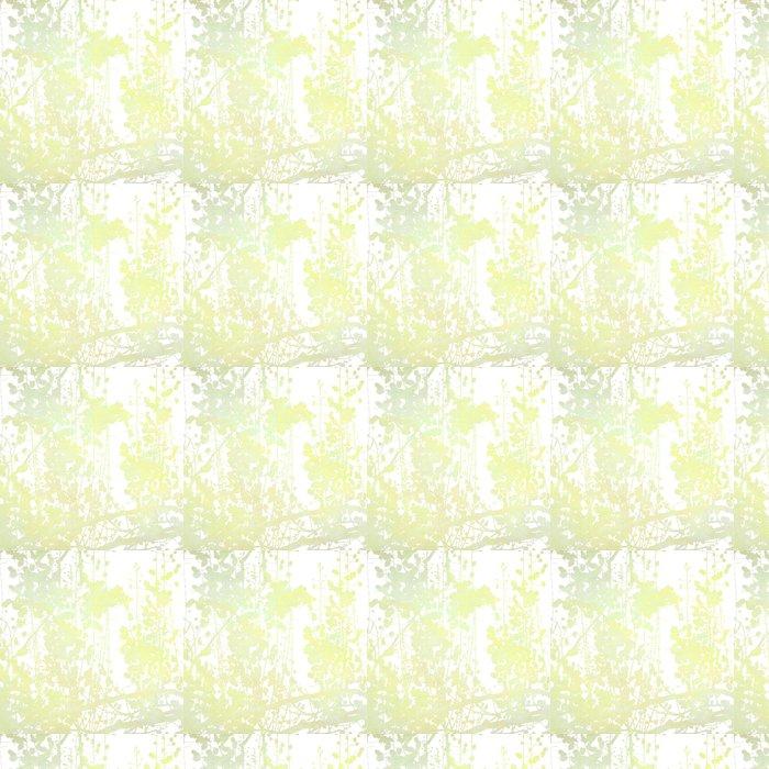Vinylová Tapeta Akvarel Květiny v pozadí Art Grey - Pozadí