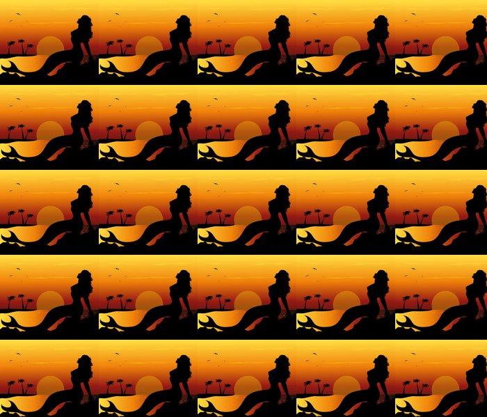 Vinylová Tapeta Sirena sugli scogli - Imaginární zvířata