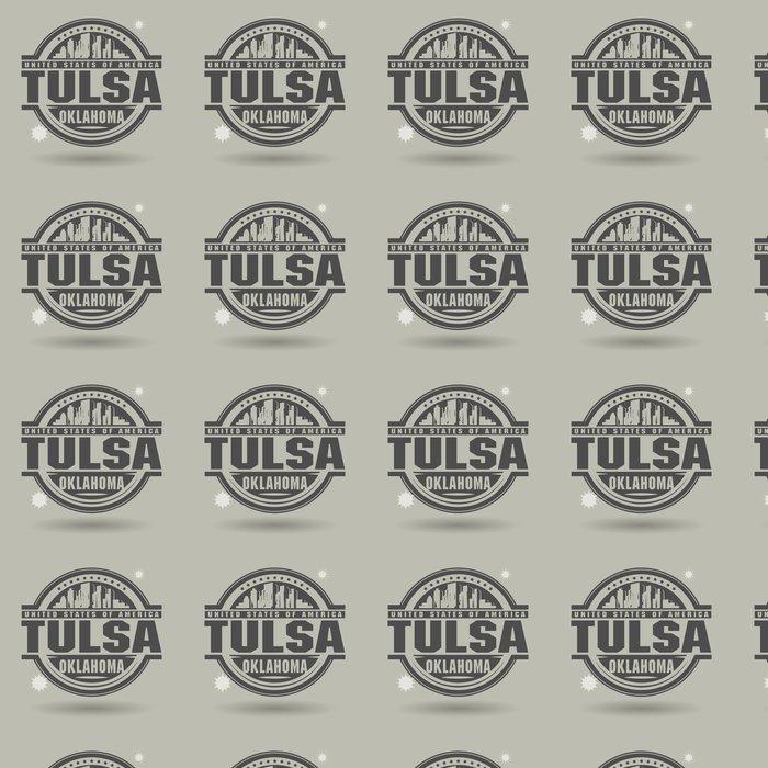 Vinylová Tapeta Razítko nebo štítek s textem Tulsa, Oklahoma uvnitř - Amerika