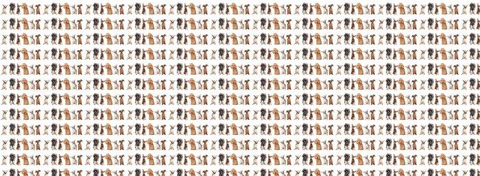 Vinylová Tapeta Skupina mladých psů - Savci